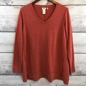 LOGO Lounge by Lori Goldstein High Low Pullover L